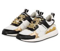 Sneaker - WEISS/ GOLD/ SCHWARZ