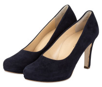 Plateau-Pumps - NAVY VELOURS