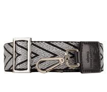 Schulterriemen - schwarz/ silber