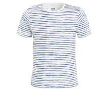 T-Shirt CIDEVIN - blau/ weiss