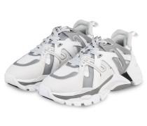 Plateau-Sneaker FLASH - WEISS/ SILBER