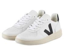 Sneaker V-10 - WEISS/ SCHWARZ