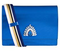 Umhängetasche - blau metallic