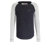 Sweatshirt - dunkelblau meliert