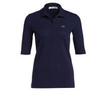 Piqué-Poloshirt mit 3/4-Arm