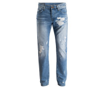 Destroyed-Jeans NEW ROCCO Relaxed Skinny-Fit