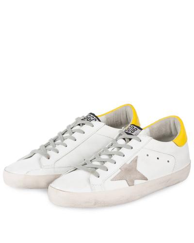 Golden Goose Damen Sneaker SUPERSTAR - WEISS/ GELB Auslass Bilder Günstiger Preis Großhandel qMzzf
