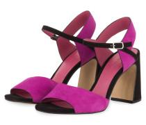 Sandaletten CAMOSCIO - LILA/ SCHWARZ