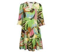 Kleid mit 3/4-Arm und Volants