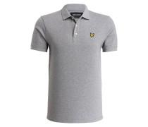 Piqué-Poloshirt - hellgrau
