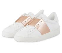 Sneaker OPEN - WEISS/ ROSÉ METALLIC