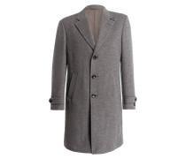 Cashmere-Mantel - grau meliert