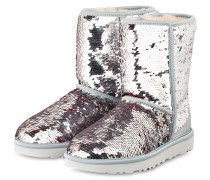 Boots CLASSIC SHORT SEQUIN - SILBER
