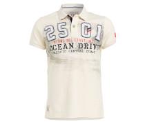 Jersey-Poloshirt - creme
