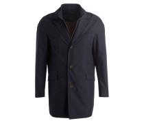 Mantel mit abnehmbarer Blende