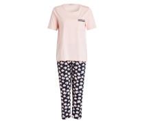 Schlafanzug - rosa/ nachtblau