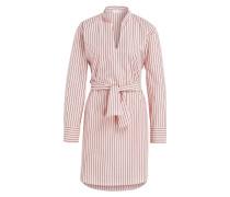 Blusenkleid - rosa/ schwarz gestreift