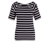 T-Shirt - nachtblau/ offwhite gestreift