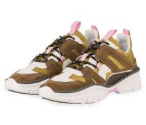 Sneaker KINDSAY - OLIV/ HELLBRAUN