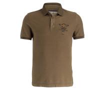 Piqué-Poloshirt - khaki