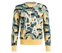 Sweatshirt BARKER - gelb/ navy/ petrol
