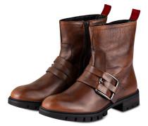 Boots im Biker-Stil - BRAUN