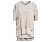 Kurzarm-Pullover aus Leinen