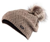 Mütze ISABELLA LUX mit Bommel in Felloptik