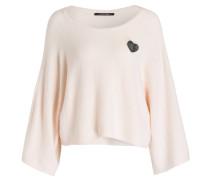 Pullover mit Brosche - rose