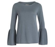 Cashmere-Pullover - blaugrau