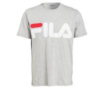 T-Shirt - grau/ weiss/ rot
