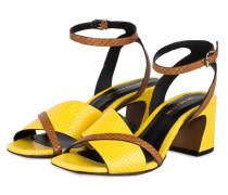 Sandaletten - GELB/ BRAUN
