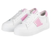 Plateau-Sneaker BIG - WEISS/ ROSA
