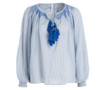 Bluse LEAH - blau/ offwhite gestreift
