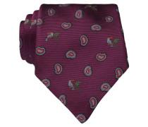 Krawatte - bordeaux/ hellblau