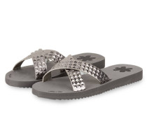 Sandalen CROSS TILE - GRAU METALLIC
