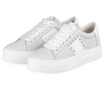 Plateau-Sneaker BIG - HELLGRAU/ WEISS