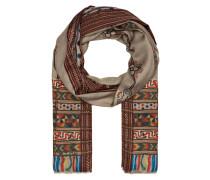 Cashmere-Schal mit Seidenanteil