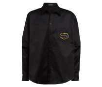 Oversized-Hemd Comfort Fit mit abnehmbaren Ärmeln