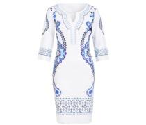 Kleid mit 3/4-Arm und Schmucksteinbesatz