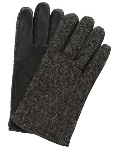 Lederhandschuhe im Materialmix