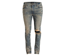 Destoyed-Jeans Tapered Fit