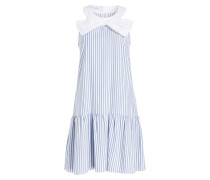 Minikleid - blau/ weiss gestreift