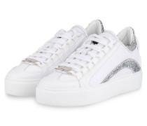 Plateau-Sneaker 251 - WEISS/ SILBER