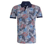 Piqué-Poloshirt - navy/ grau/ koralle