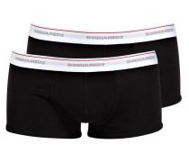 2er-Pack Boxershorts - schwarz/ bund weiss