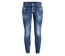 7/8-Jeans - medium nothing wash blue