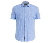 Halbarm-Hemd Regular-Fit mit Leinenanteil
