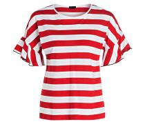 T-Shirt - rot/ weiss gestreift