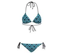 Triangel-Bikini mit Glitzergarn